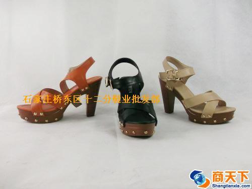 女凉鞋 3523黑,裸色,桔